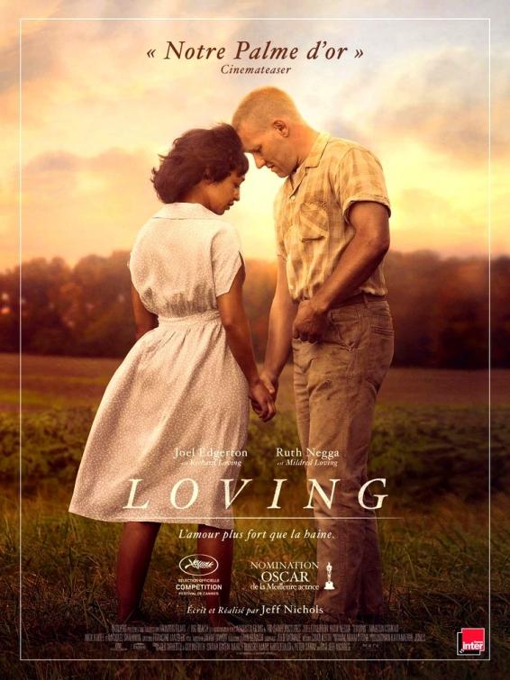 Loving est un film dramatique américano-britannique écrit et réalisé par Jeff Nichols et sorti en salles en 2016.